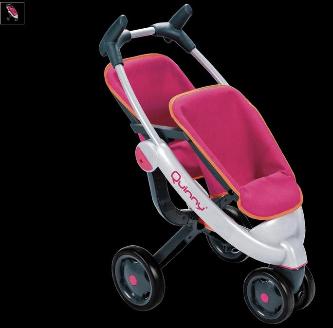smoby maxi-cosi quinny twin 3 wheel dolls pushchair