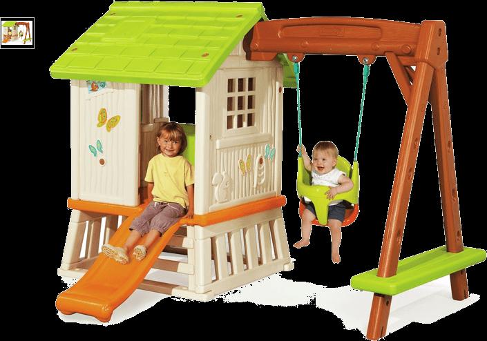 smoby swingset playhouse
