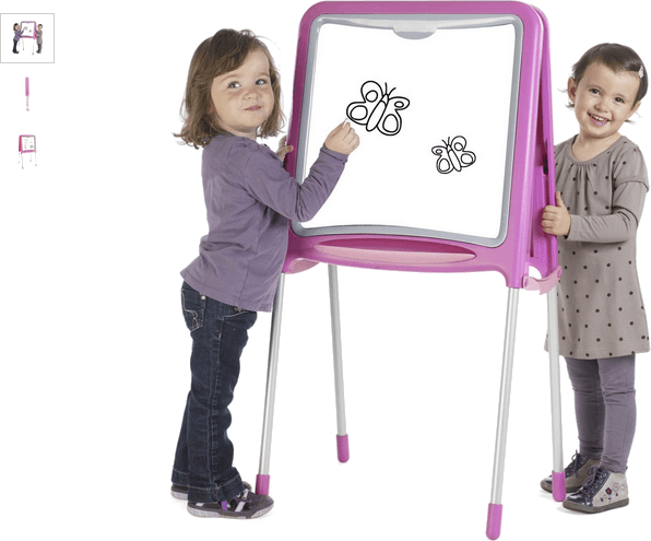 smoby ultimate drawing board - pink