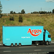 Argos truck providing free delivery