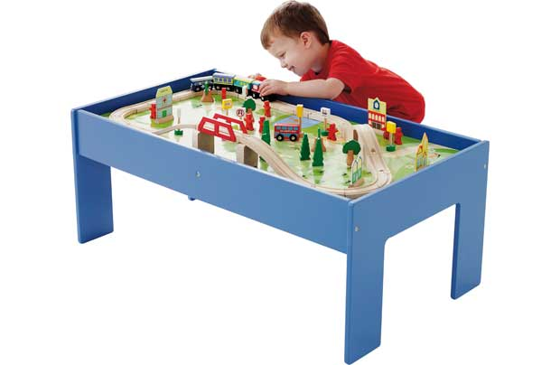 /pre-school/chad-valley-wooden-table-and-90-piece-train-set
