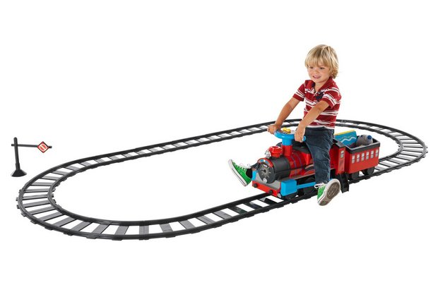 /wheeled-toys/chad-valley-powered-ride-on-train-and-track-set