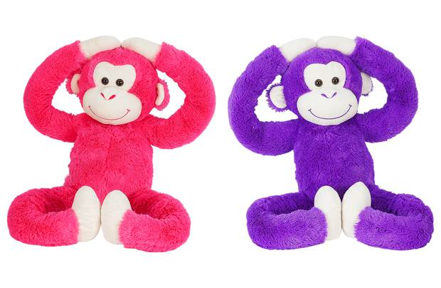 /fluffy-friends/chad-valley-pink-and-purple-long-arm-monkey