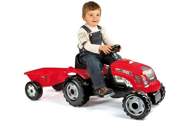 /wheeled-toys/smoby-red-tractor-with-trailer