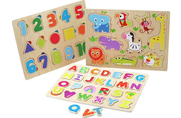 /pre-school/chad-valley-playsmart-3-pack-wooden-puzzles