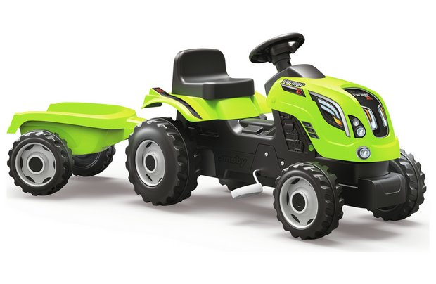 /wheeled-toys/smoby-tractor-with-trailer-green