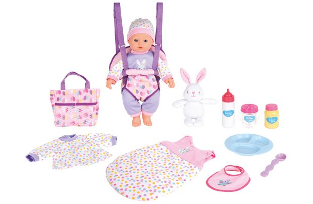 /babies-to-love/chad-valley-babies-to-love-16-inch-baby-travelling-stunt-set