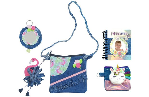 /creative-play/chad-valley-be-u-flamingo-and-unicorn-denim-bag-set