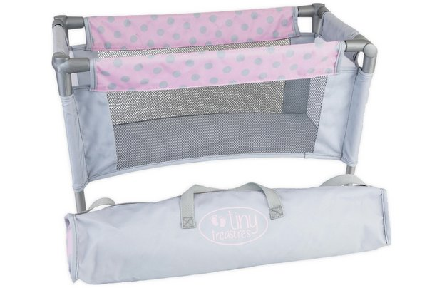 /tiny-treasures/chad-valley-tiny-treasures-dolls-travel-cot-with-carrycase