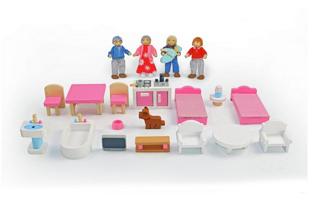 /wooden-toys/chad-valley-wooden-dolls-house-family-furniture-playset