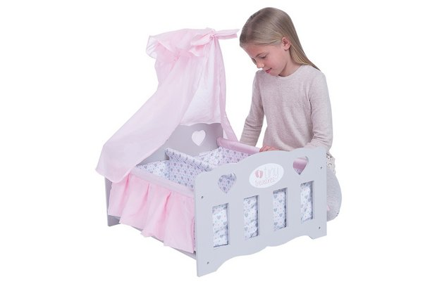 /tiny-treasures/chad-valley-tiny-treasures-wooden-double-baby-cot