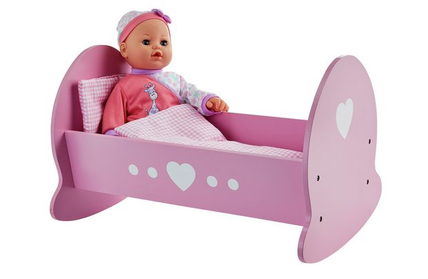 /babies-to-love/chad-valley-babies-to-love-wooden-dolls-crib-and-blanket