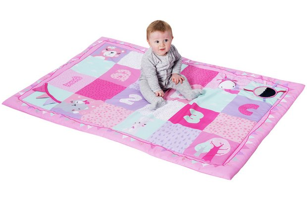 /baby/chad-valley-baby-pink-dreamland-large-playmat