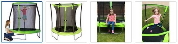 Chad Valley 6ft Trampoline with Folding Enclosure Images