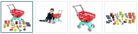 Chad Valley Shopping Trolley with 30 Accessories Images