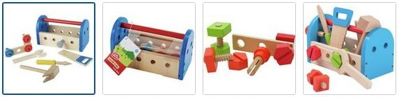 Chad Valley Wooden Tool Box Images