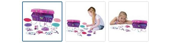 Chad Valley Be U Bead Box and 5000 Beads Images