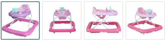 Chad Valley Baby Walker - Pink Images