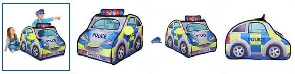 Chad Valley Police Car Pop Up Play Tent Set Images