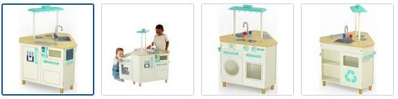 Chad Valley Wooden Triangle Island Play Kitchen Images