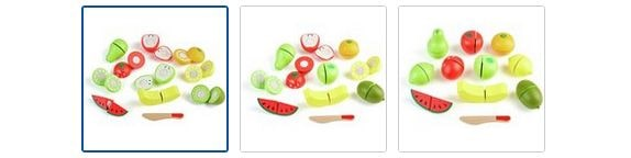 Chad Valley Wooden Fruit Set Images