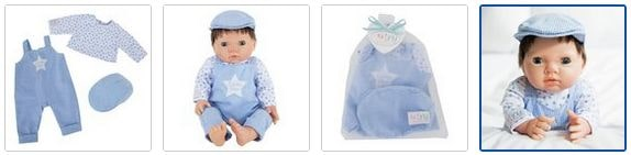 Chad Valley Tiny Treasures Star Dungarees Images