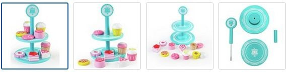 Chad Valley Wooden Cake Stand Images