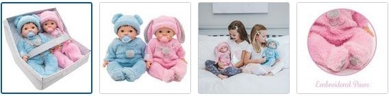 Chad Valley Tiny Treasures Twin Fluffy Bumper Set Images