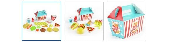 Chad Valley Wooden Burger Gift Set Images