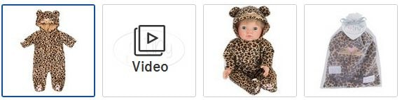 Chad Valley Tiny Treasures Leopard Outfit Images