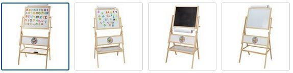 Chad Valley Double Sided Wooden Easel Images