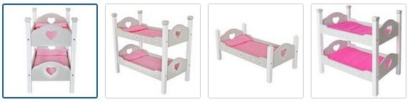 Chad Valley Babies to Love Wooden Doll's Bunkbed Images
