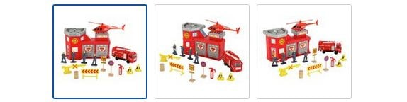 Chad Valley City Fire Station Playset Images