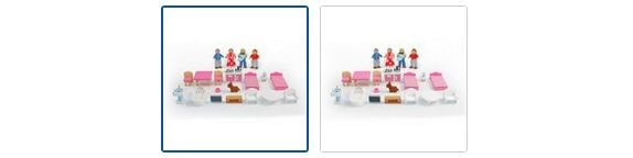 Chad Valley Wooden Dolls House Family Furniture Playset Images
