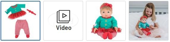 Chad Valley Tiny Treasures Elf Tutu Outfit Images
