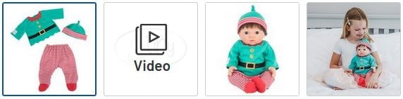 Chad Valley Tiny Treasures Elf Outfit Images