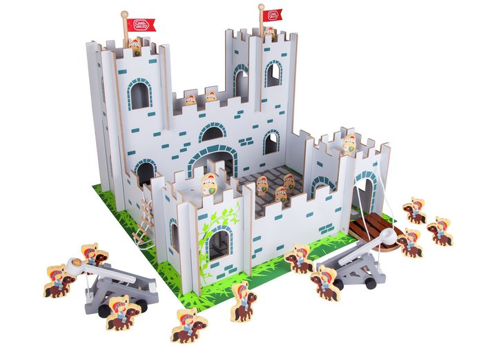 Chad Valley Wood Shed Castle Playset