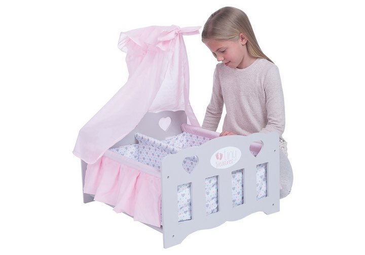 Chad Valley Tiny Treasures Wooden Double Baby Cot
