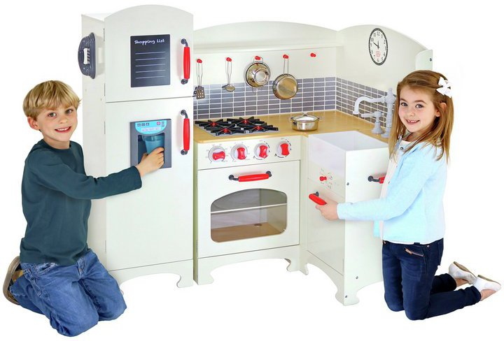 Chad Valley Deluxe Wooden Corner Toy Kitchen