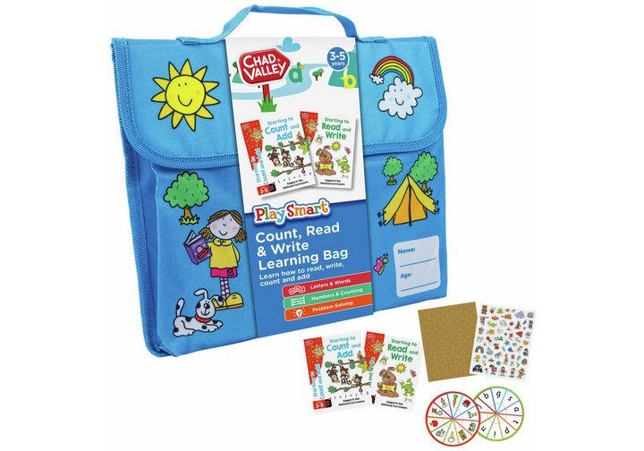 Chad Valley PlaySmart Count, Read & Write Learning Bag