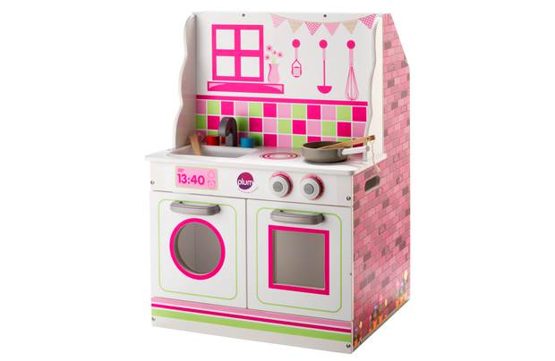 Chad Valley 2 In 1 Wooden Dolls House And Kitchen Playset
