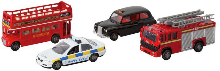 Chad Valley 4 inch Diecast Service Vehicles Set - Assorted