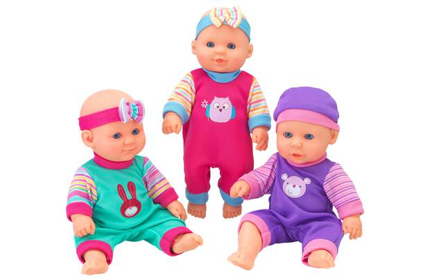 Chad Valley Babies To Love Mini Triplets Doll Set