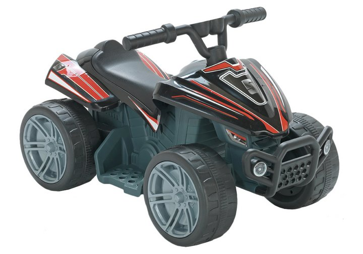 Chad Valley Baby 6V Powered Quad Bike - Black & Red