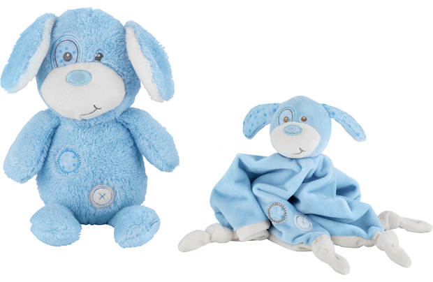 Chad Valley Baby My First Teddy And Comforter Blue