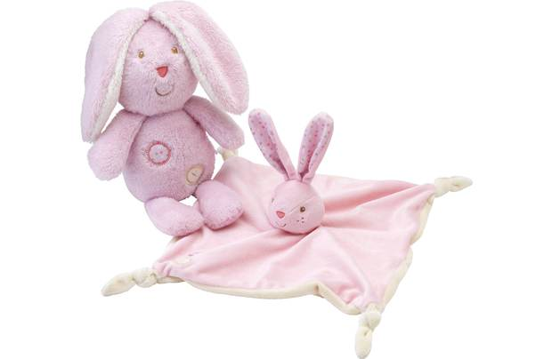 Chad Valley Baby My First Teddy And Comforter Pink