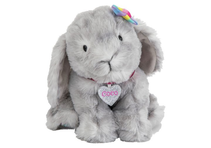 Chad Valley Bright Paws Coco The Grey Soft Bunny
