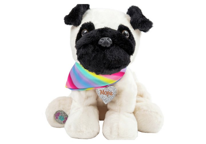 Chad Valley Bright Paws Mops the Pug Dog Soft Toy