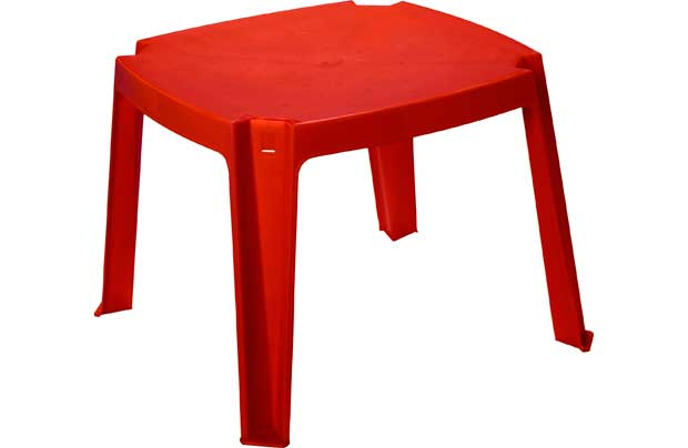 Chad Valley Childrens Square Plastic Table Red