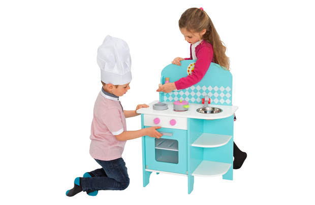 Chad Valley Curved Wooden Toy Kitchen